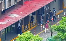 新加坡多數患者來自外籍勞工宿舍感染群組。(圖源:新華社)