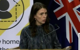 新西蘭總理阿德恩。(圖源:Focus Live 視頻截圖)