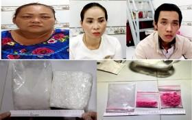 跨境運毒被警方人贓並獲,上左圖起依次為羅氏嬌、阮氏幸及鄧黃成。(圖源:警方提供)