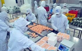 竹橋公司生產加工食品一隅。