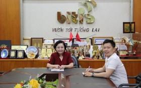 作者採訪平仙公司總經理賴謙。