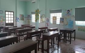潁川學校的課室裝修後煥然一新迎接學生復課。