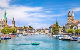 瑞士著名旅遊景點之一的蘇黎世湖一瞥。(圖源:互聯網)