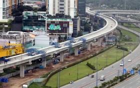 圖為建設中的地鐵1號線一瞥。(圖源:獨立)