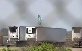 美在自由女神像附近開設新停屍場。(圖源:互聯網)