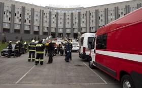 聖彼得堡聖喬治醫院火警,導致5名新冠病人死亡。(圖源:AP)