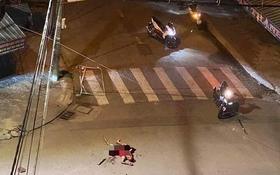 案發現場,一名男子被砍斷手臂倒地,隨後死亡。(圖源:PTH)