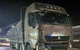 被扣留的一輛超載運沙卡車。(圖源:同奈報)