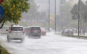 阮友景街多段受淹。(圖源:互聯網)