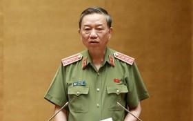 公安部長蘇霖大將。(圖源:黃丹)