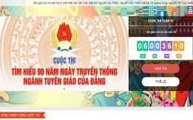 """由VCNET網站展開的""""瞭解黨宣教部門傳統日90週年""""比賽目前進入第十週賽程。(圖源:網站截圖)"""