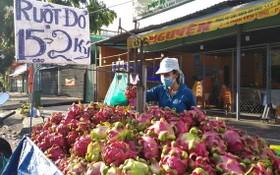 圖為街邊隨時可見的一個火龍果移動銷售攤。(圖源:玉映)
