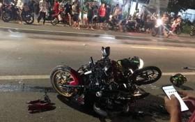 兩輛摩托車相撞現場,造成2人當場死亡,另2人重傷。(圖源:CTV)