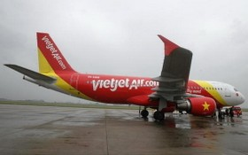 VJ139號航班因機上一名女乘客爭吵事件造成啟航時間被推遲。(圖源:VJC)