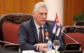 古巴國家主席米格爾‧迪亞斯-卡內爾。(圖源:路透社)