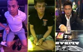 被扣押的2名嫌犯張文慶(左圖)、楊明源(中圖)及阮茹英。(圖源:警方提供)
