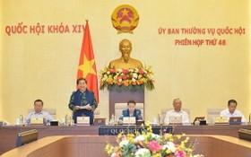 國會常務副主席從氏放(左二)主持會議。(圖源:Quochoi.vn)