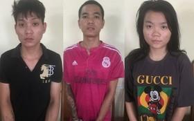 被捕的竊賊團夥,左起依次為利偉明、凌文孝及武氏雪妹。(圖源:警方提供)