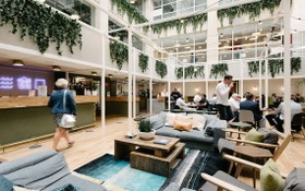 WeWork在第四郡E.Town Central中心設立靈活辦公空間。