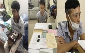 被刑拘的3名嫌疑人。(圖源:同奈公安機關)