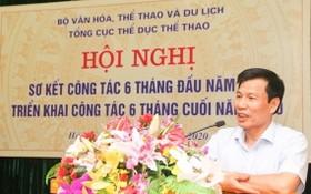 阮玉善部長在會上講話。(圖源:互聯網)