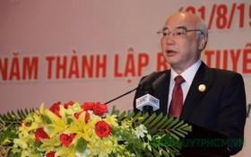 市委宣教處主任潘阮如奎在會上發言。(圖源:市黨部新聞網)