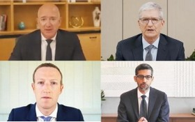 """美國四大科技企業當地時間7月29日以""""線上方式""""出席國會眾議院司法委員會聽證會。(圖源:互聯網)"""