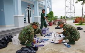 西寧省邊防部隊查獲並扣留的走私香煙。(圖源:海鵬)