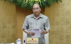政府總理阮春福主持會議。(圖源:越通社)