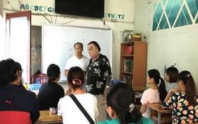 在葉寺的一個免費外語班。