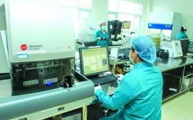 醫療單位檢測新冠病毒。(圖源:田升)