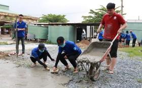 第二技藝高等學校志願大學生組合力建設公園。