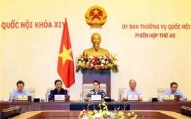 國會主席阮氏金銀(中)主持上一次會議。(圖源:越通社)