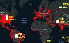 全球疫情地圖。(圖源:UNIAN)
