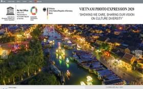 """聯合國教科文組織與德國駐河內大使館配合舉辦主題為""""推廣與分享多彩文化視野""""的2020年越南圖片比賽。(圖源:網站截圖)"""