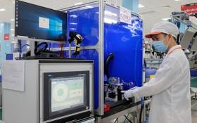 溫納集團的呼吸機零配件生產車間。(圖源:Vingroup)