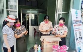 第十一郡婦聯會展開下載BLUEZONE應用程式防疫獲贈送口罩活動。