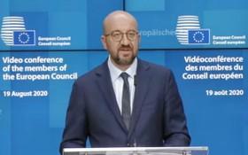 歐洲理事會主席米歇爾。(圖源:視頻截圖)