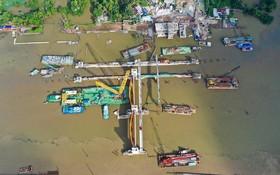 圖為本市治水項目中的枯樹防汛水閘工程。(圖源:Zing)