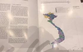無黃沙與長沙群島的越南地圖的資料已被回收。(圖源:玉顯)