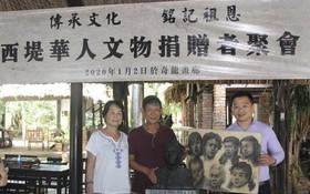 華人畫家李克柔伉儷向陳列室捐贈珍貴銅像。