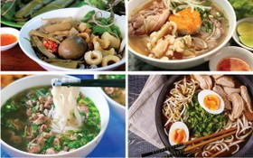 令人回味無窮的各類越南米粉美食。