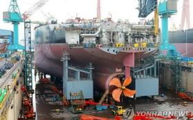 圖為韓國現代重工蔚山造船廠一瞥。(圖源:韓聯社)