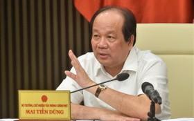 政府辦公廳主任、部長梅進勇主持會議。(圖源:Chinhphu.vn)