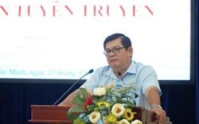 市越南祖國陣線委員會副主席吳清山在儀式上發言。(圖源:三元)