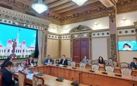 視像會議現場。(圖源:市黨部新聞網)