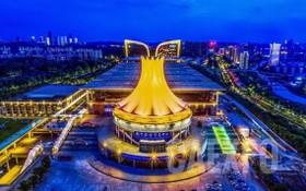 中國-東盟博覽會永久舉辦地-南寧國際會展中心。