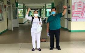 峴港市肺病醫院最後一名新冠肺炎患者痊癒並出院。(圖源:院方提供)
