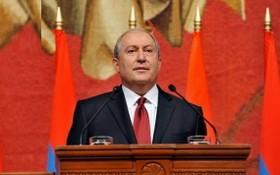 亞美尼亞共和國總統阿爾緬‧薩爾基相。(圖源:Armen Press)