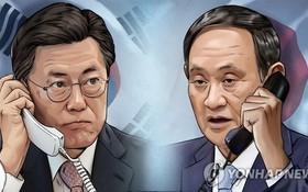 韓國總統文在寅(左)和日本首相菅義偉(右)。(示意圖源:韓聯社)